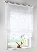 Raffrollo Liane, weiß (H/B: 170/43 cm)