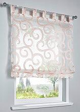 Raffrollo Luzern, rosa (H/B: 130/60 cm)
