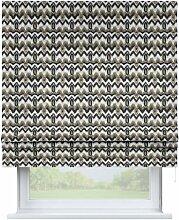 Raffrollo Padva, schwarz-beige, 80 × 170 cm,