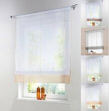 Raffrollo Schlaufen Gardine Vorhang Transparent