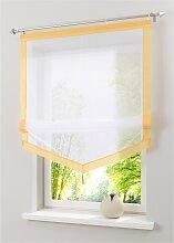 Raffrollo Sylt, gelb (H/B: 140/60 cm)