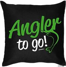 rag-das bedrucktes Angler Sofa Kissen: to go
