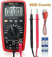 RAGU 81D Digital Multimeter 4000 Count Auto Ranging Elektronisches Messgerät für Wechsel und Gleichspannung AC /DC Strom Widerstand Temperatur und Diodendurchgang Messinstrumen