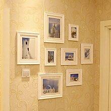 Rahmen Deko Massivholz Wand mediterrane Fotowand