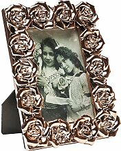 Rahmen Rosenblüten Rosegold 10x15cm
