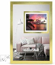 rahmengalerie24 Bilderrahmen 20x50 cm Rahmen Gold
