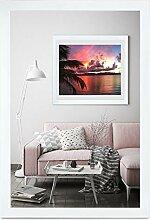 rahmengalerie24 Bilderrahmen 30x70 cm Rahmen Weiß