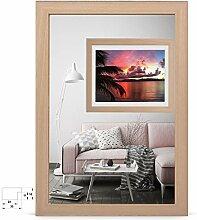 rahmengalerie24 Bilderrahmen 48x68 cm Rahmen buche