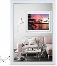 rahmengalerie24 Bilderrahmen 60x80 cm Rahmen Weiß