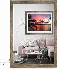 rahmengalerie24 Bilderrahmen 70x90 cm Rahmen Braun