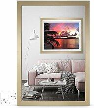 rahmengalerie24 Bilderrahmen 80x80 cm Rahmen Gold