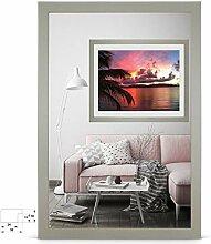 rahmengalerie24 Bilderrahmen 80x80 cm Rahmen Grau