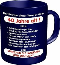 Rahmenlos 914716 Funtasse Fun Spaßtasse mit Aufdruck - 40 Jahre