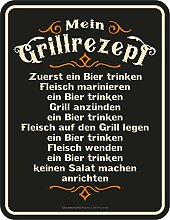 RAHMENLOS Deko Blechschild für den BBQ Grill Fan:
