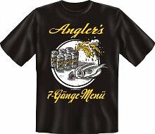Rahmenlos Fun-T-Shirt: Angler 7 Gänge -