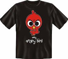 Rahmenlos Fun-T-Shirt: angry Bird - Geschenkidee - 100% Baumwolle - Top Qualität , Farbe:mehrfarbig;Größe:XXL