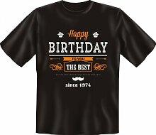 Rahmenlos Fun-T-Shirt: Best since 74 -