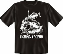 Rahmenlos Fun-T-Shirt: Fishing legend -