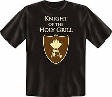Rahmenlos Fun-T-Shirt: Holy Grill - Geschenkidee - 100% Baumwolle - Top Qualität , Farbe:mehrfarbig;Größe:XL