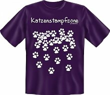 Rahmenlos Fun-T-Shirt: Katzenstampfzone -