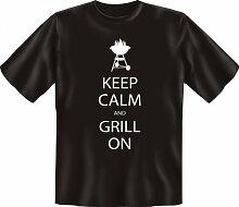 Rahmenlos Fun-T-Shirt: KC Grill - Geschenkidee - 100% Baumwolle - Top Qualität , Farbe:mehrfarbig;Größe:S