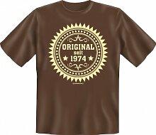 Rahmenlos Fun-T-Shirt: Original 74 - Geschenkidee