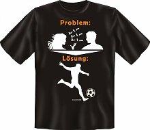 Rahmenlos Fun-T-Shirt: Problem Fußball -