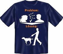 Rahmenlos Fun-T-Shirt: Problem gasst -