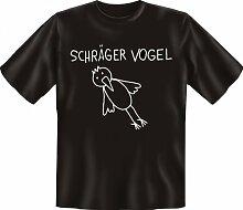 Rahmenlos Fun-T-Shirt: schräger Vogel -