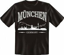 Rahmenlos Fun-T-Shirt: Skyline München -