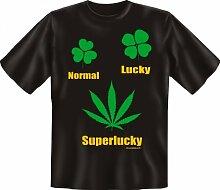 Rahmenlos Fun-T-Shirt: Superlucky - Geschenkidee -