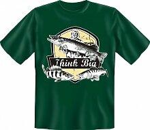 Rahmenlos Fun-T-Shirt: think Big - Geschenkidee -
