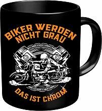 Rahmenlos Kaffeebecher für ältere Motorradfahrer