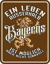 RAHMENLOS Original Blechschild für den Bayern