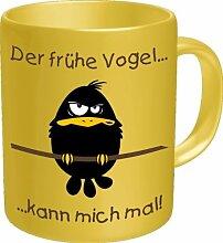 Rahmenlos Tasse: früher Vogel - Geschenkidee -