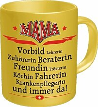 Rahmenlos Tasse: Mama Vorbild - Geschenkidee - Top Qualität - Kaffee, Tee, Glühwein zum Totlachen