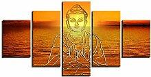 rahmenlose 5-teilige Leinwanddrucke Wandkunst für