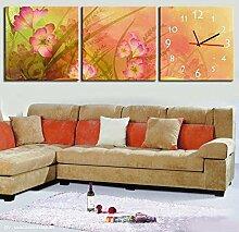 rahmenlose dekoriert landschaft wanduhr Rosa Wildblumen wandmalereien wanduhr , 40*40cm