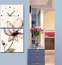 rahmenlose dekoriert wanduhr Schwache blumen wandmalereien wanduhr , 40*40cm