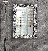 Rahmenspiegel rechteckig silberfarben, Stil modern, Stahlgestell - 70 x 100 …
