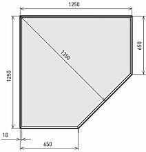 raik B40001 Kamin Glasplatte Diamant 2 inkl.