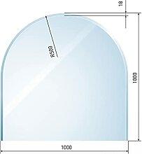 raik B40009 Raik Kamin Glasplatte Zunge inkl.
