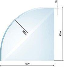 raik B40018 Raik Kamin Glasplatte Viertelkreis