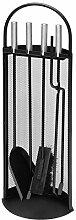 raik R1001 Kaminbesteck, 4-teilig, schwarz,