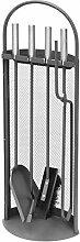 raik R1002 Kaminbesteck, 4-teilig, anthrazit,