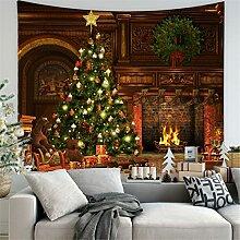 RAILONCH Weihnachten Tapisserie Kamin