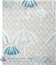 RAIN/APRIL Duschvorhang Vinyl 180 x 200 cm transparent/weiß/blau Regen-Schirme