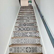 RAIN QUEEN Aufkleber Treppe Folie Sticker selbstklebend Küche renovieren Bad Wand Wandtattoo Dekoration (100*18cm/piece, Schwarz)