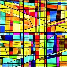 RAIN QUEEN Fensterfolie 40*60cm statische Aufkleber Glasdekorfolie Milchglasfolie Sichtschutzfolie blickdicht Folie Selbstklebend bunt (40*60cm, C#)