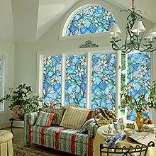 RAIN QUEEN Fensterfolie 45*200cm Glasdekorfolie Milchglasfolie Sichtschutzfolie blickdicht Folie Selbstklebend (D#)